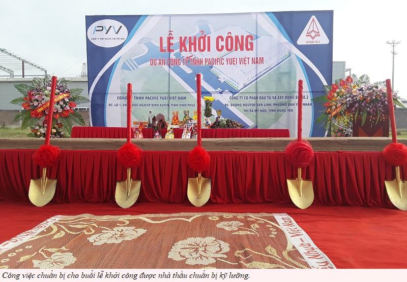 Licogi 18.3 thi công dự án Pacific Yuei Việt Nam