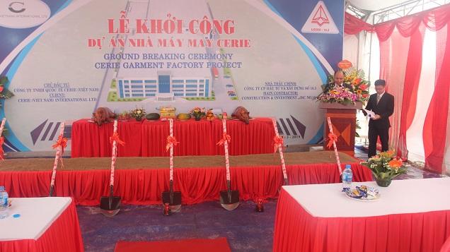 Lễ khởi công dự án nhà máy CERIE Vĩnh Phúc.